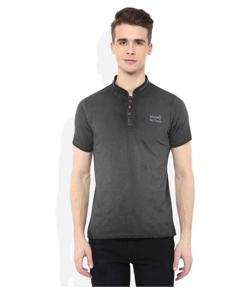 UMM Black Henley T-Shirt