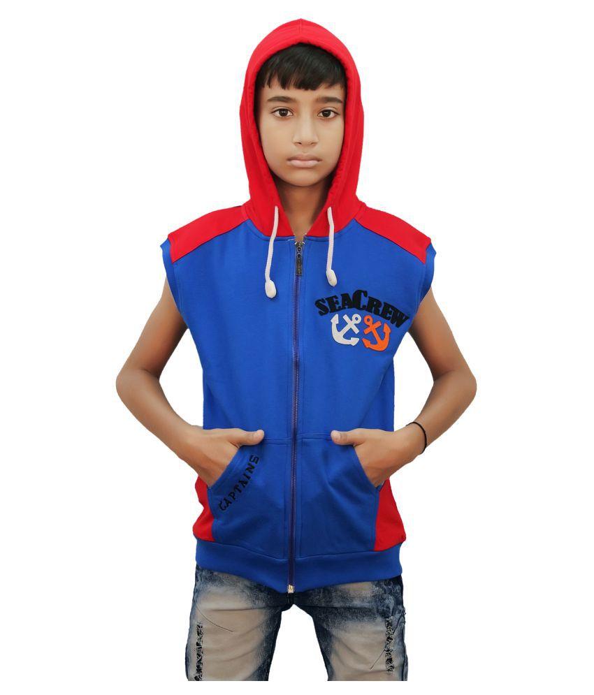 Kothari Blue Hooded Sweatshirt