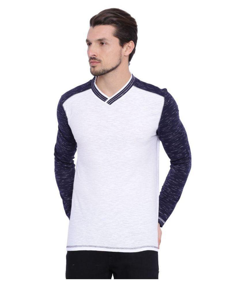 Arise By Beroe White V-Neck T-Shirt