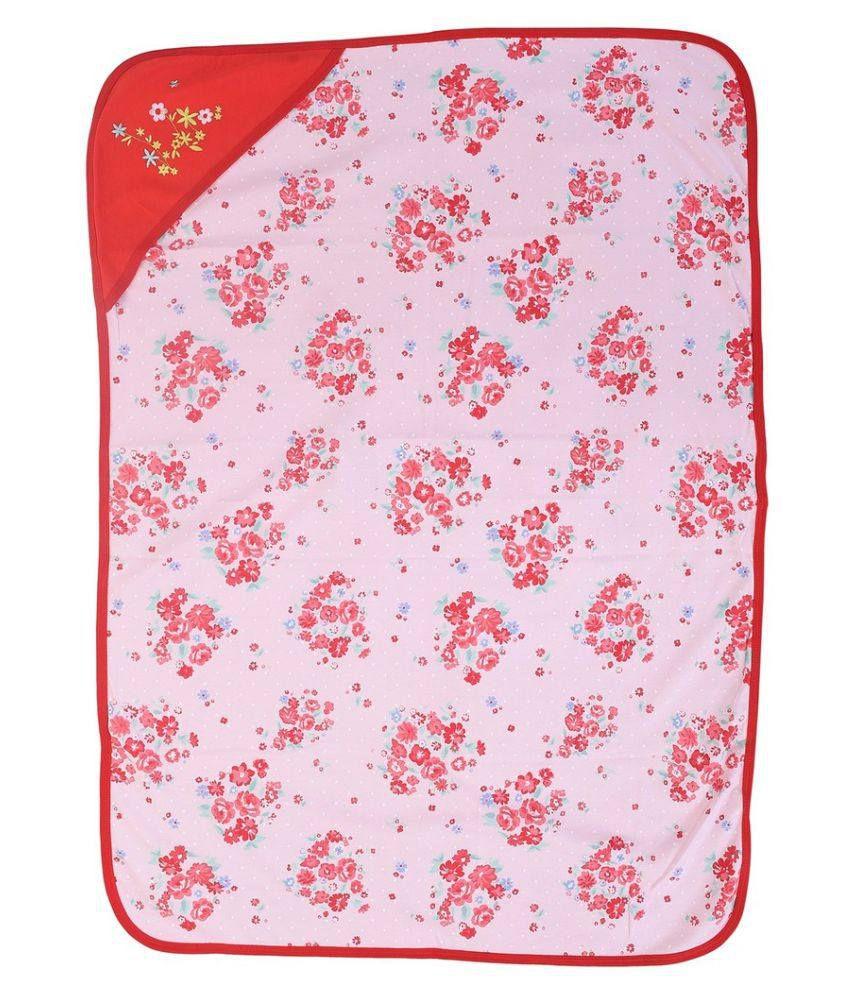 Kidzvilla Red Baby Cotton Hooded Wrapper