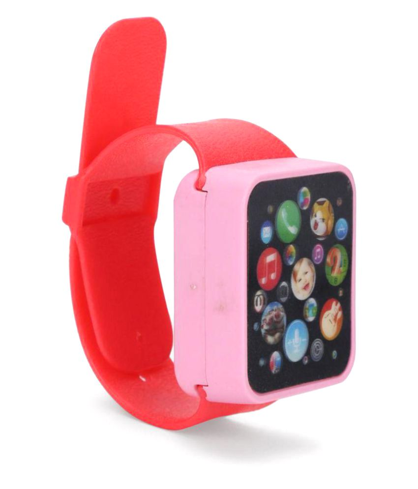 Smiles Creation Red Touch Screen Watch