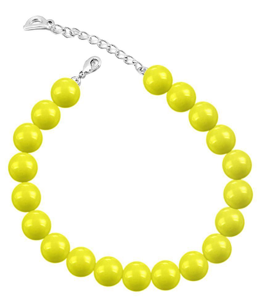 Mahi Yellow Alloy Bracelet