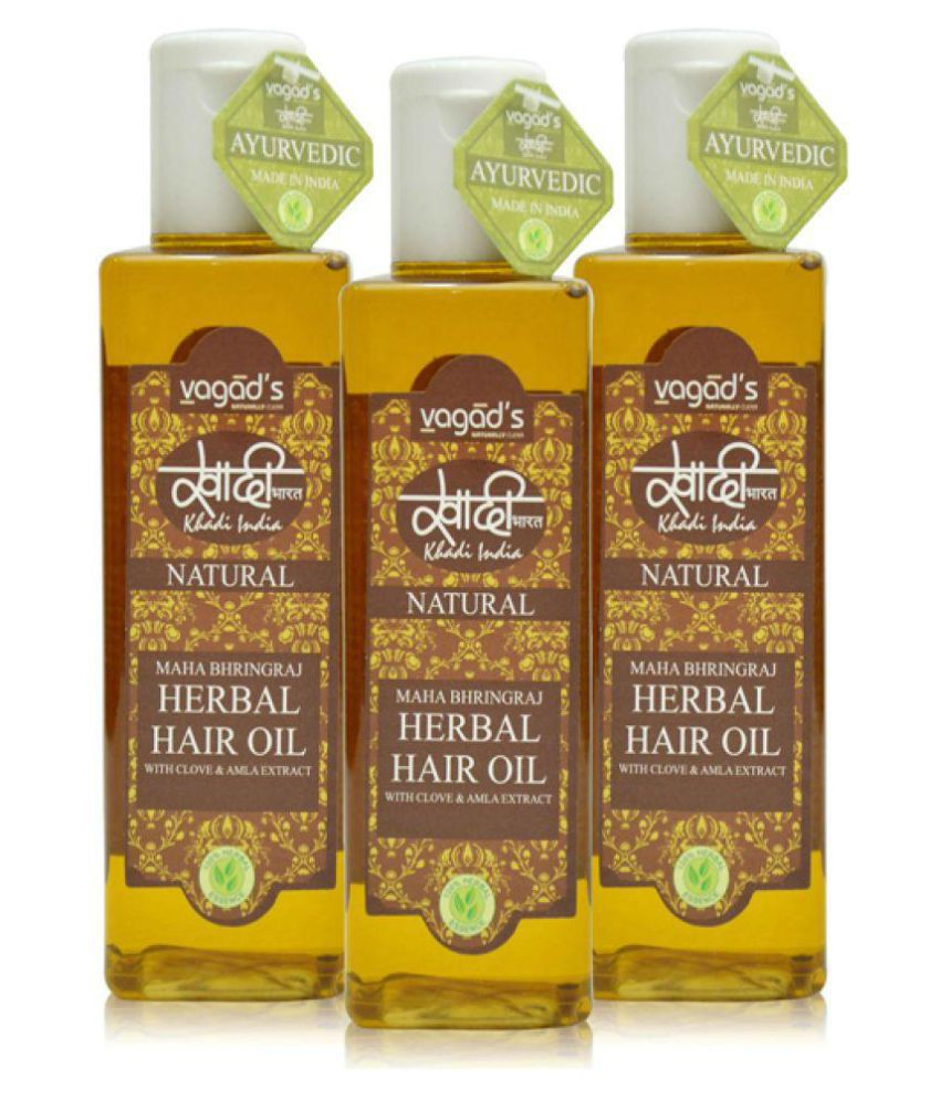 bc17715ea3 Khadi Vagad's Maha Bhringraj Hair Oil 300 ml Pack of 3: Buy Khadi Vagad's Maha  Bhringraj Hair Oil 300 ml Pack of 3 at Best Prices in India - Snapdeal