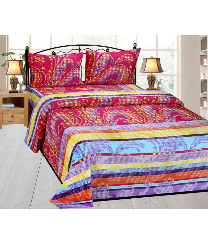 Ab Home Decor Double Flannel Multi Printed Bed Sheet Buy Ab Home Decor Double Flannel Multi Printed Bed Sheet Online At Low Price In India Snapdeal Com
