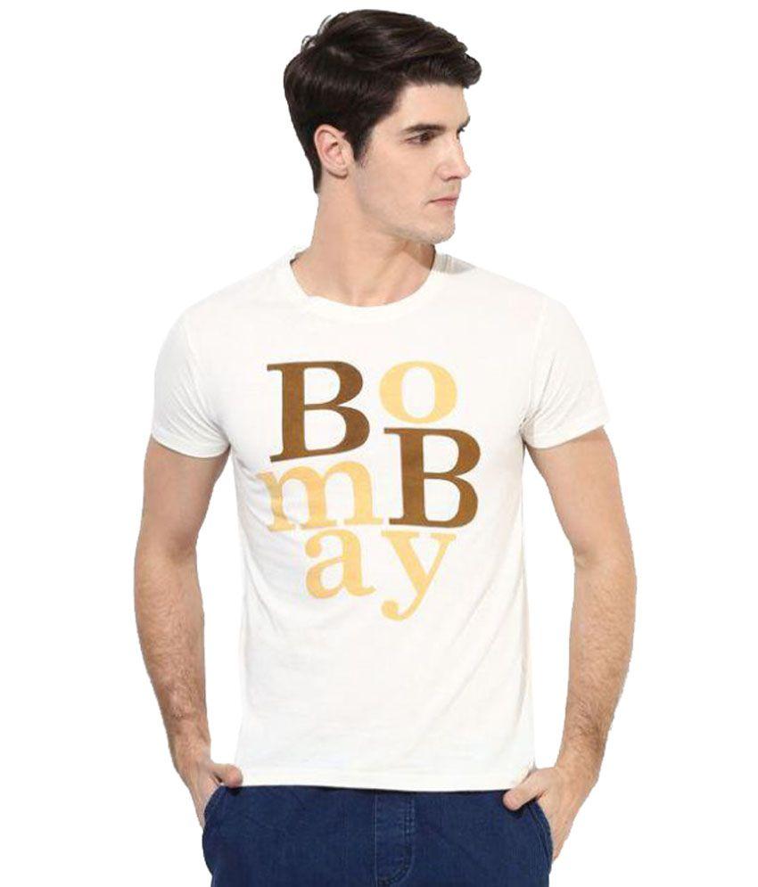 Brown Boy White Round T-Shirt