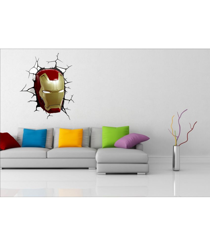 Ejaart iron man face vinyl wall stickers