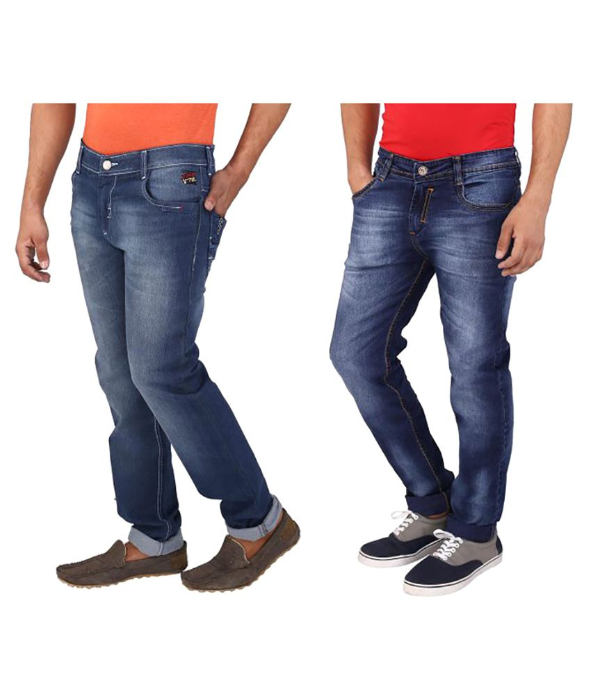 WineGlass Multi Regular Fit Jeans