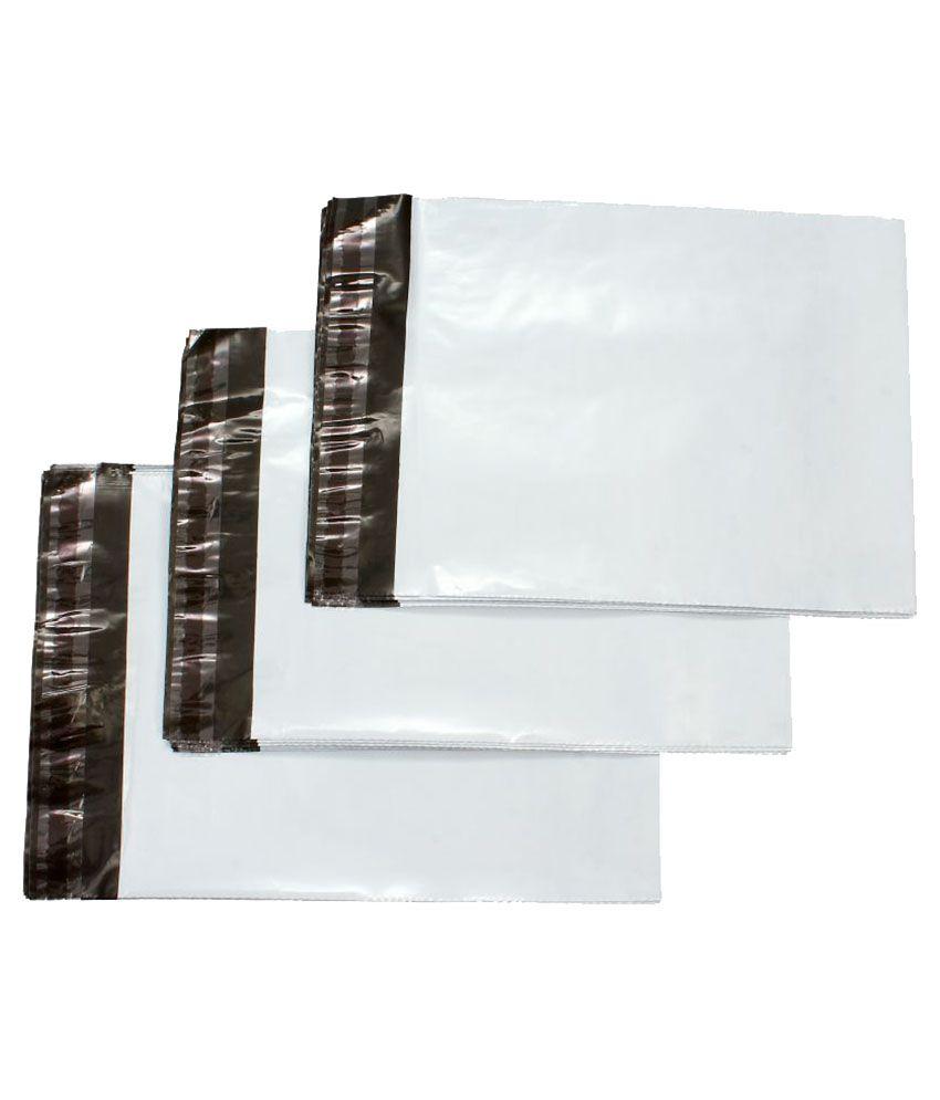 PackingKaro White Shopping Bags - 200 Pcs