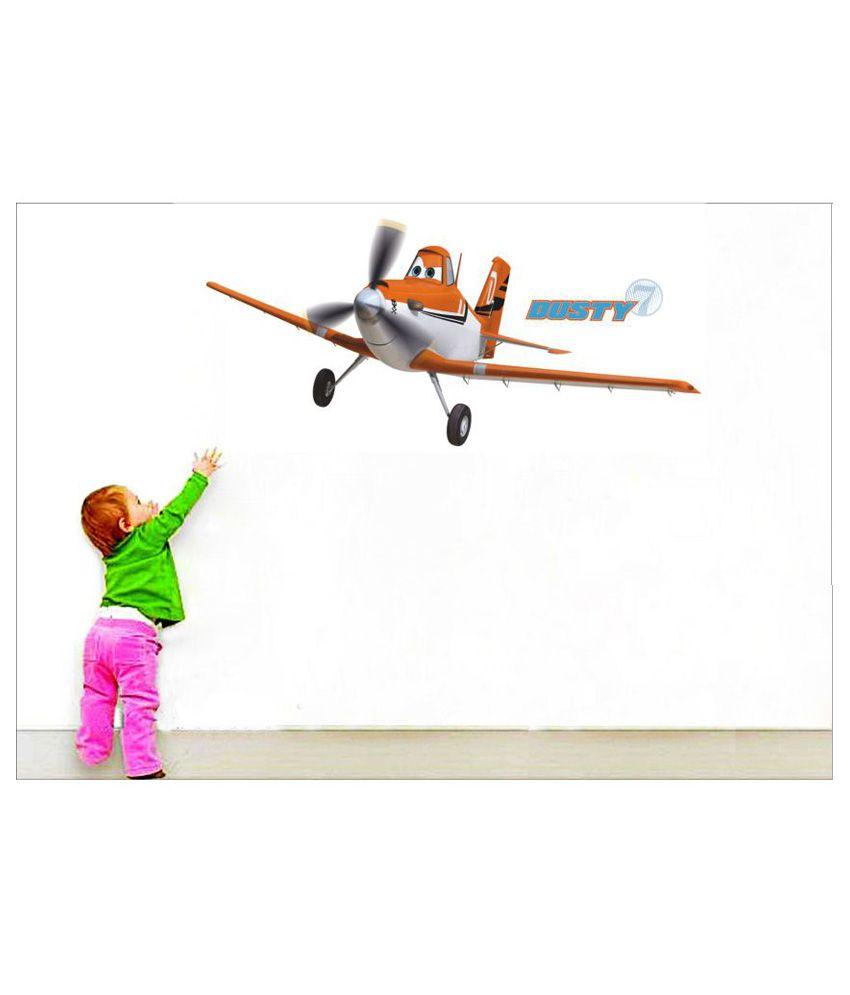 EJAart 11-Piece Planes Dusty Vinyl Wall Stickers