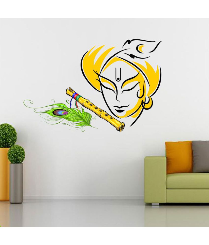 Ejaart krishna vinyl wall stickers buy ejaart krishna vinyl wall stickers online at best prices in india on snapdeal