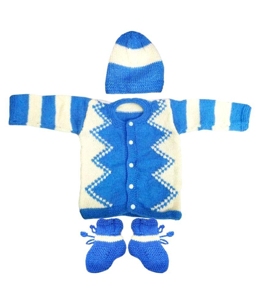cb619c78ed16 Dadima Ki Bunai Sky Sweater Set - Buy Dadima Ki Bunai Sky Sweater ...