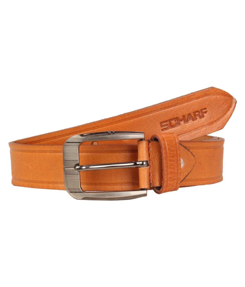 Scharf Tan Leather Casual Belts