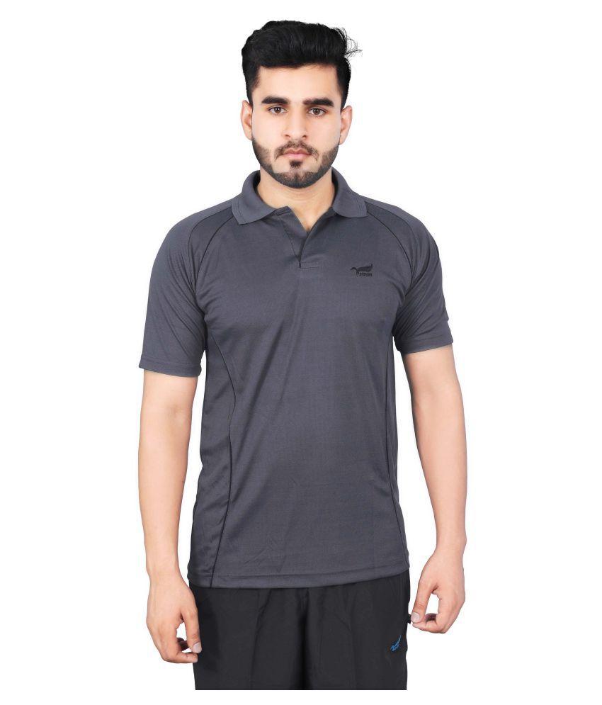 NNN Grey Polyester Polo T-Shirt Single Pack