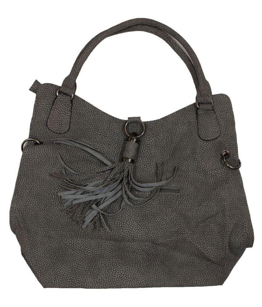 Ramya Gray Non Leather Shoulder Bag