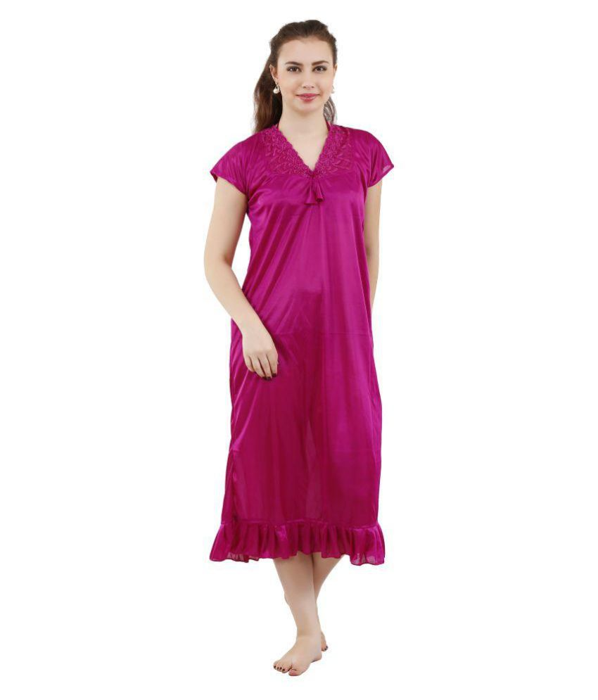 Buy Romaisa Satin Nighty   Night Gowns Online at Best Prices in ... 68a6d0f8e
