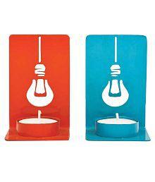 PoppadumArt See Through Me Tea Light Holder Aluminium Multicolour