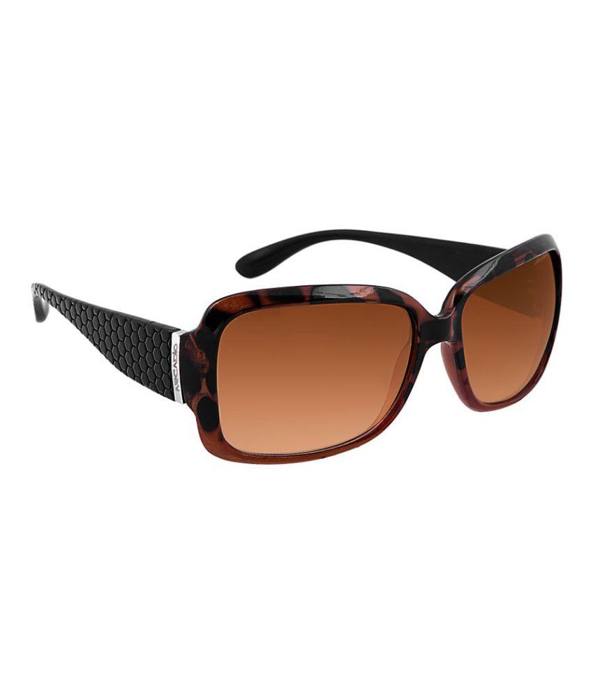 Arcadio Brown Oversized Sunglasses ( AAR202DM-BR )
