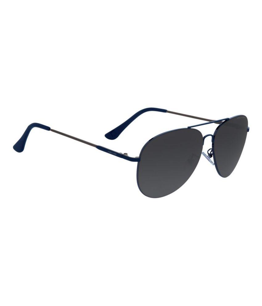 Arcadio Grey Aviator Sunglasses ( AAR121BL-GY )