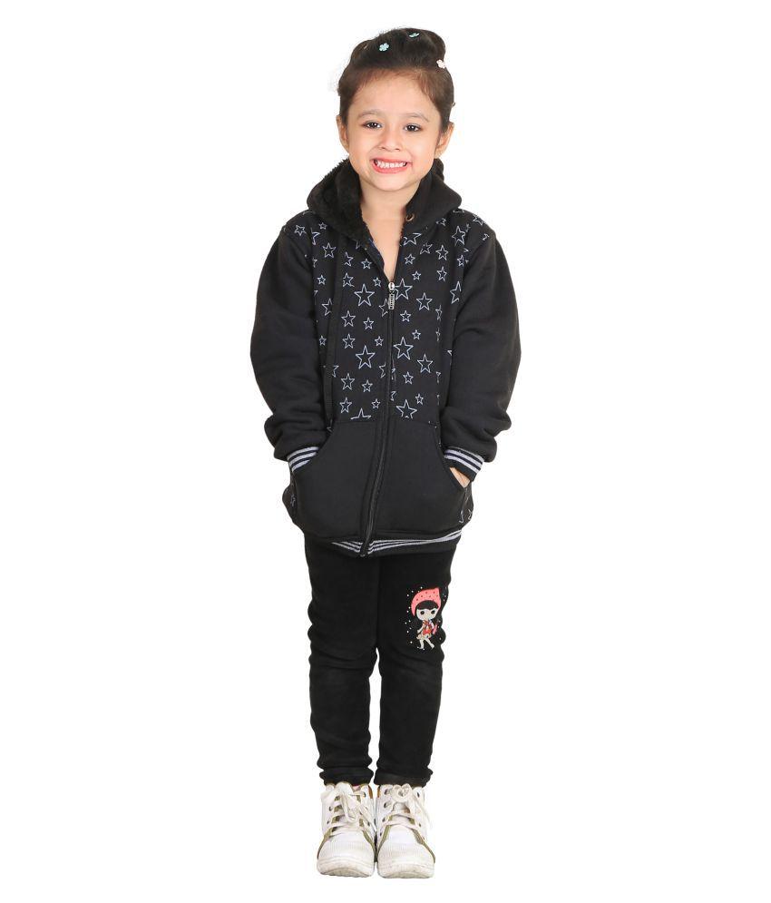 Qeboo Black Cotton Blend Sweatshirt