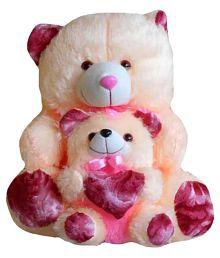 Kashish Trading Company Cream Teddy Bear Mother and Baby