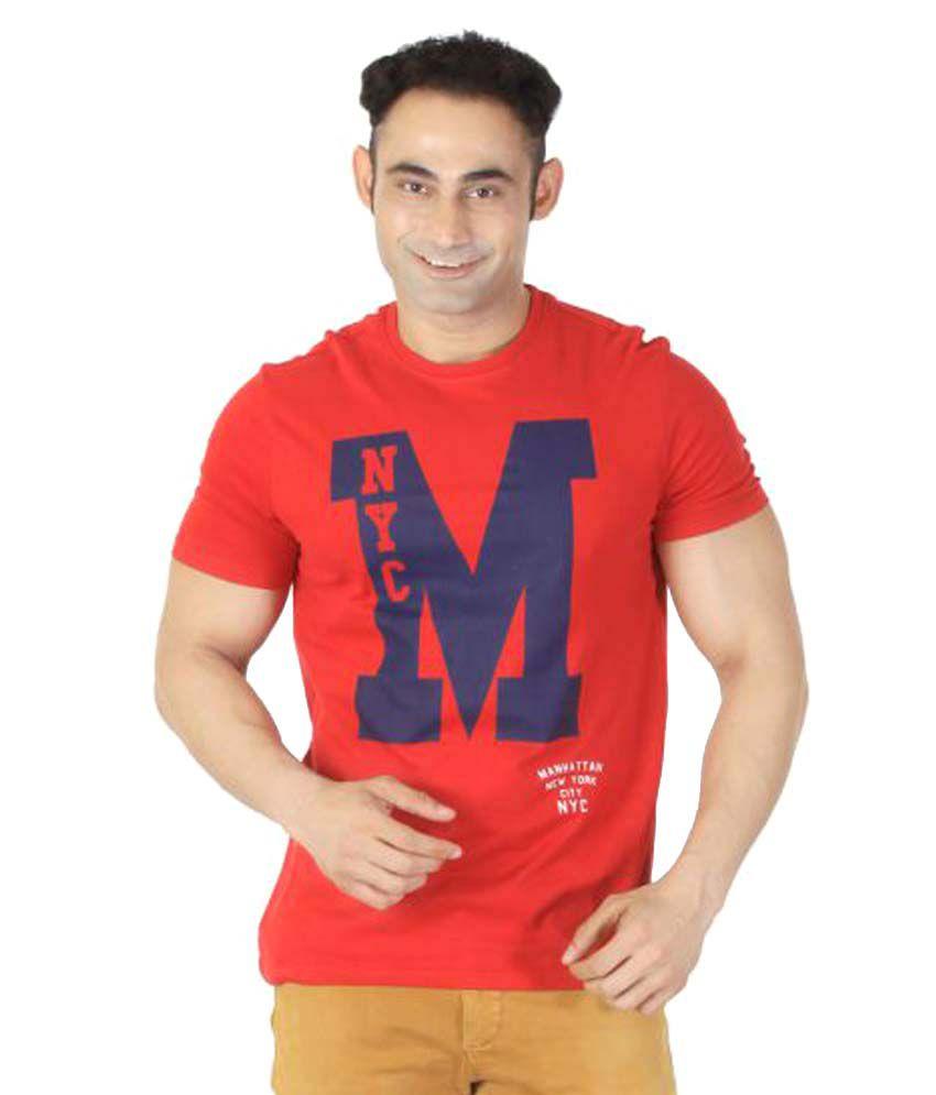 Ishwa Red Round T-Shirt
