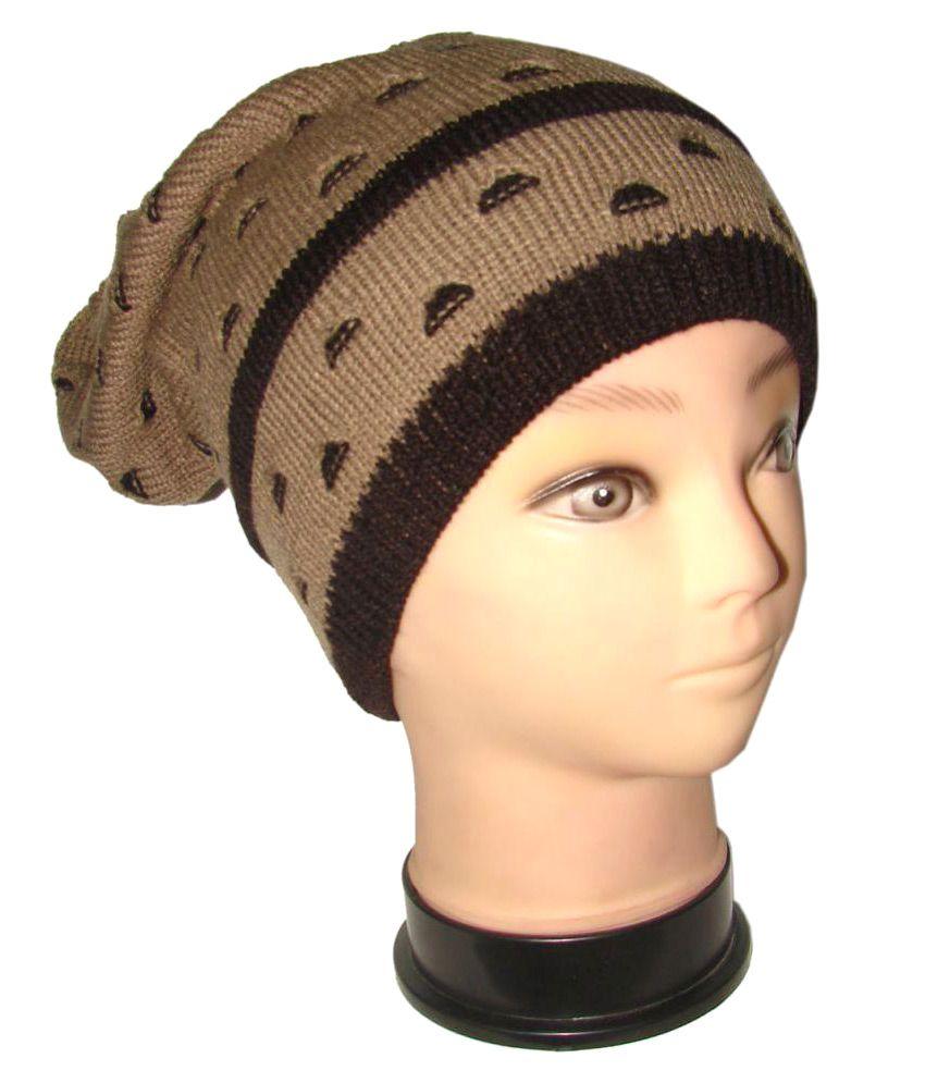 Goodluck Brown Printed Wool Headwraps