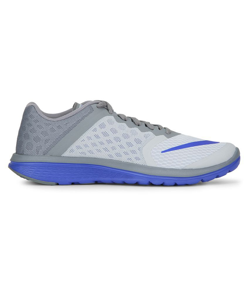 a49b56f20f6 Nike Fs Lite Run 3 Gray Running Shoes - Buy Nike Fs Lite Run 3 Gray ...