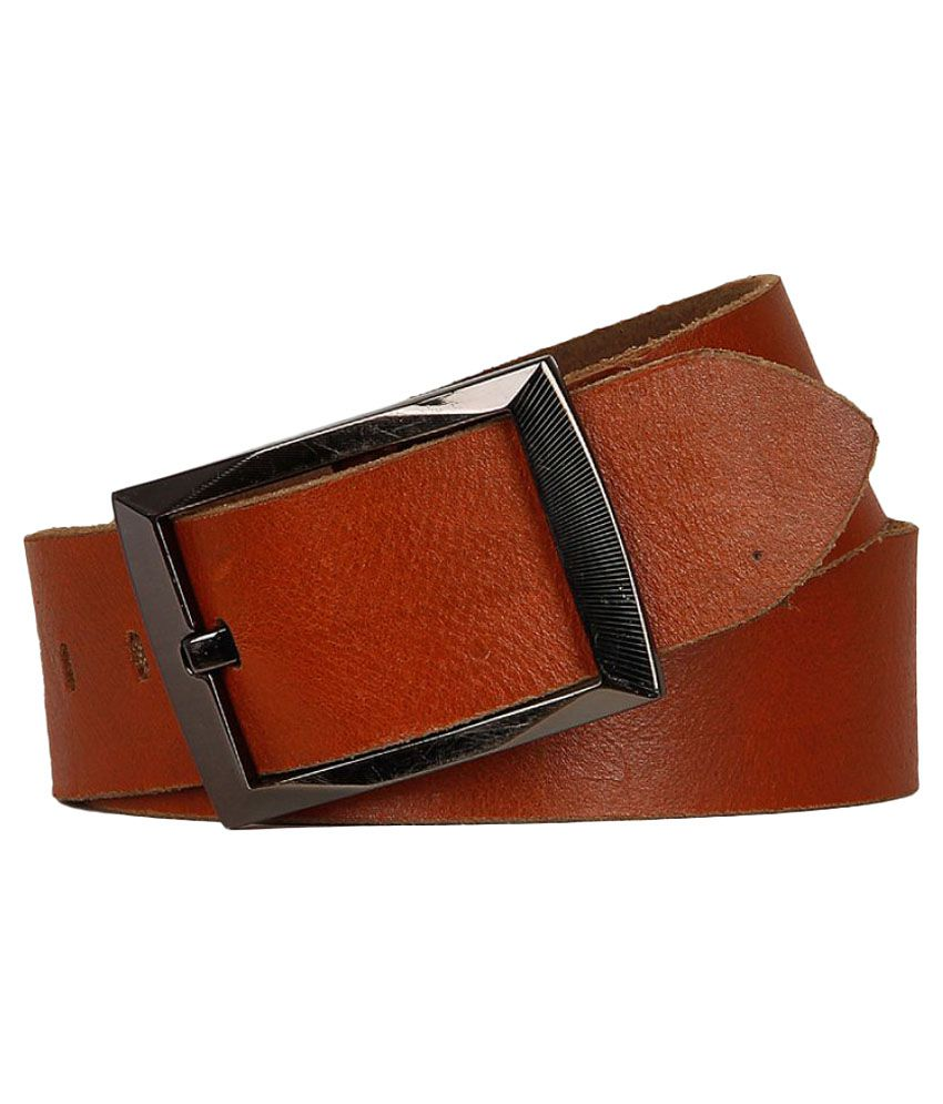 YL Tan Leather Casual Belts
