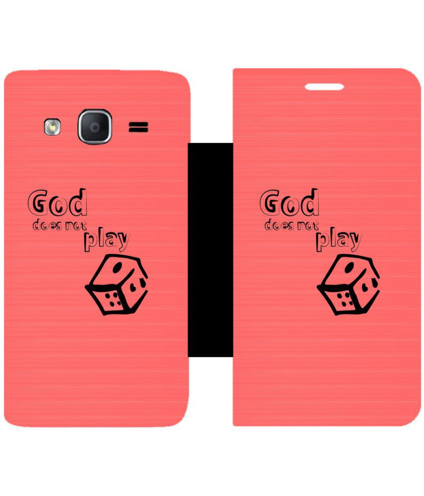 Samsung Galaxy On5 Pro Flip Cover by Skintice - Pink