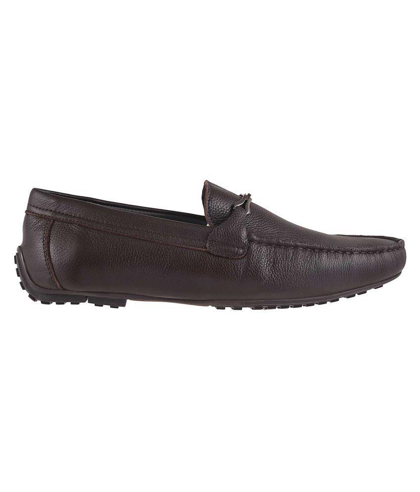 b6d86af7fff J Fontini Brown Loafers - Buy J Fontini Brown Loafers Online at Best ...
