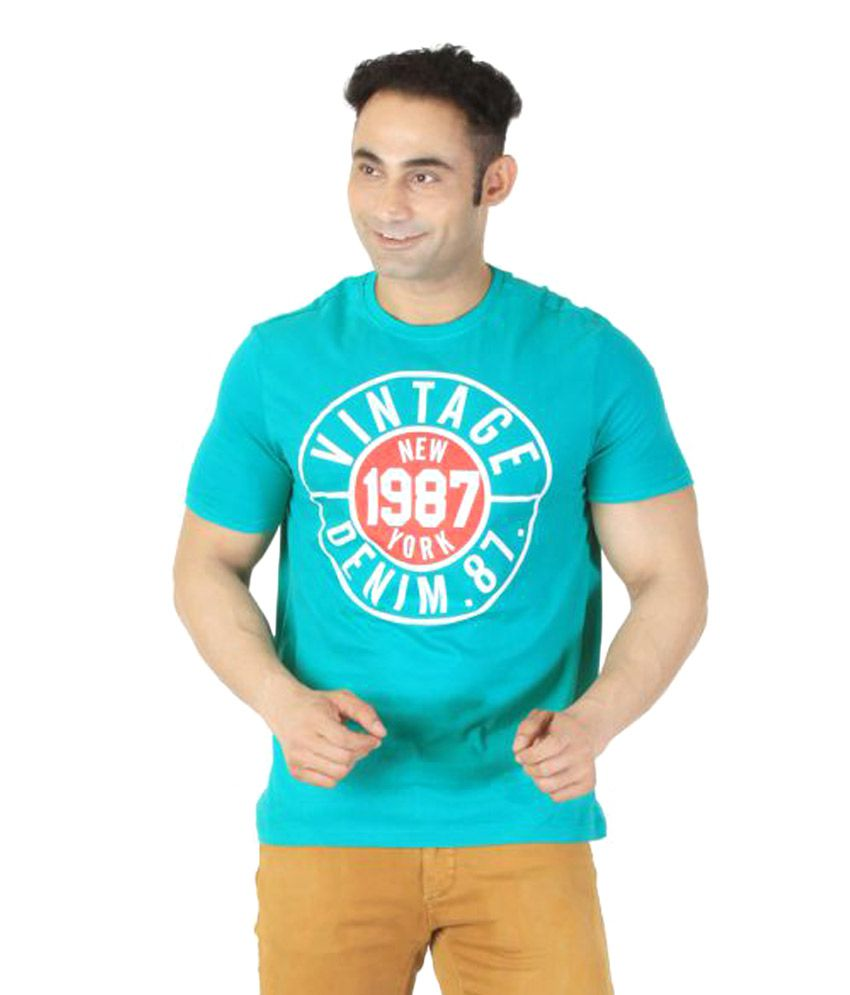 Ishwa Green Round T-Shirt