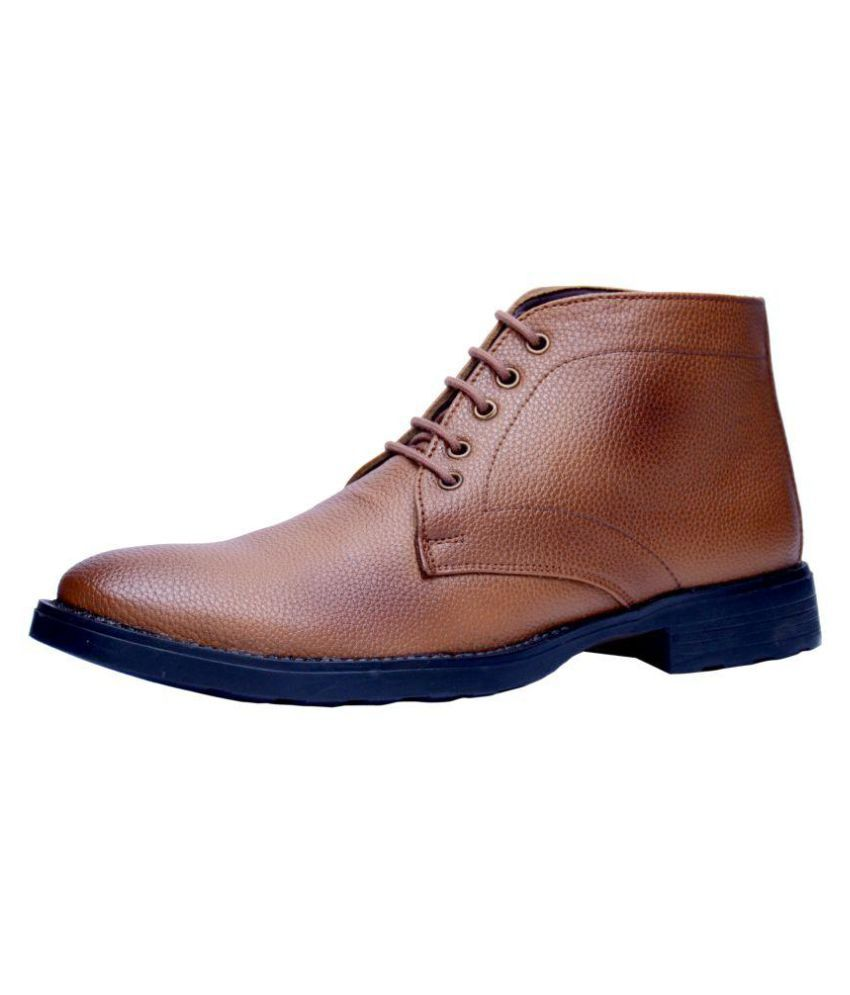 Vithariya'S Tan Formal Boot