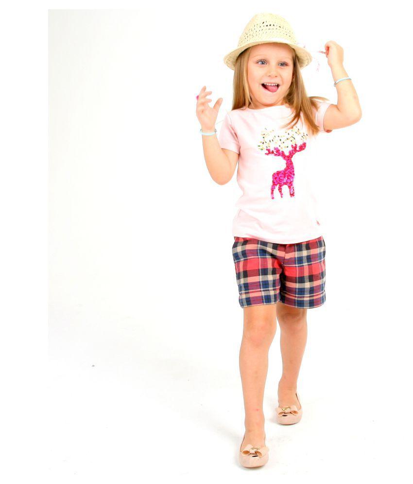 Cherry Crumble California Multicolor Cotton Shorts