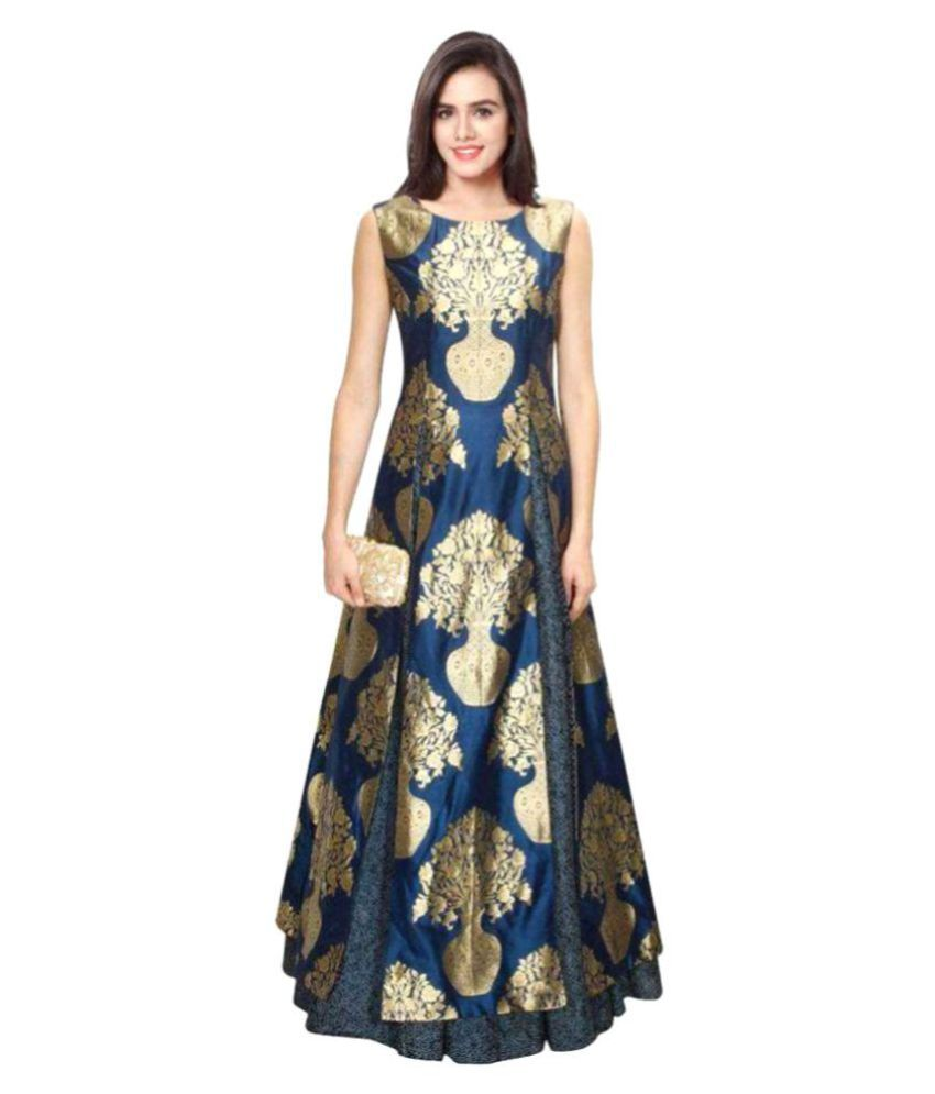 Kmozi Silk Gown Buy Kmozi Silk Gown Online At Best Prices In India
