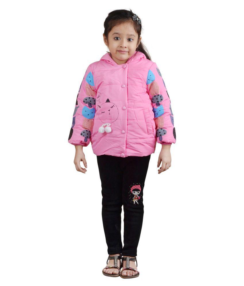 Crazies Pink Nylon Light Weight Jacket
