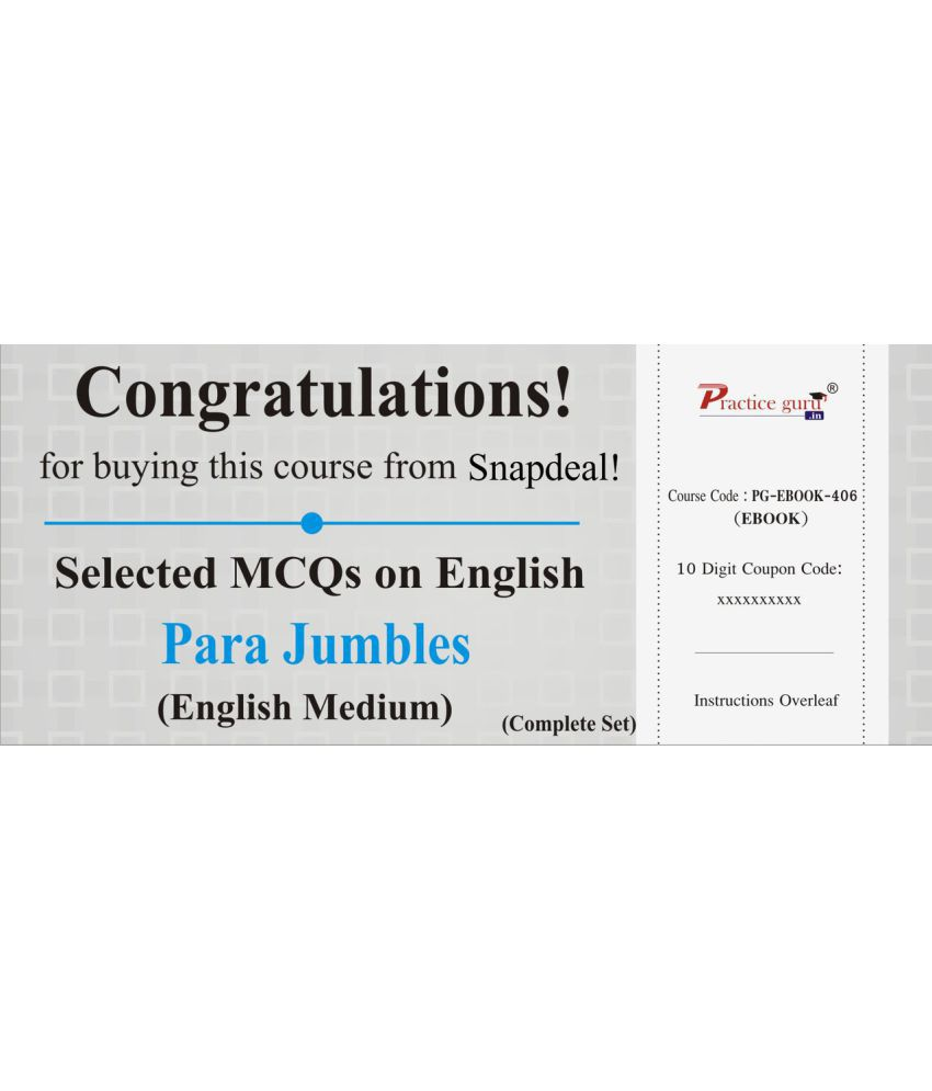 Selected mcqs on english para jumbles complete set license selected mcqs on english para jumbles complete set licenseredemption code fandeluxe Image collections