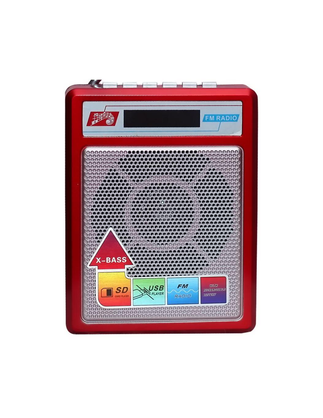 Sonilex Portable Multimedia Fm Radio Usb sd Player 414   Red