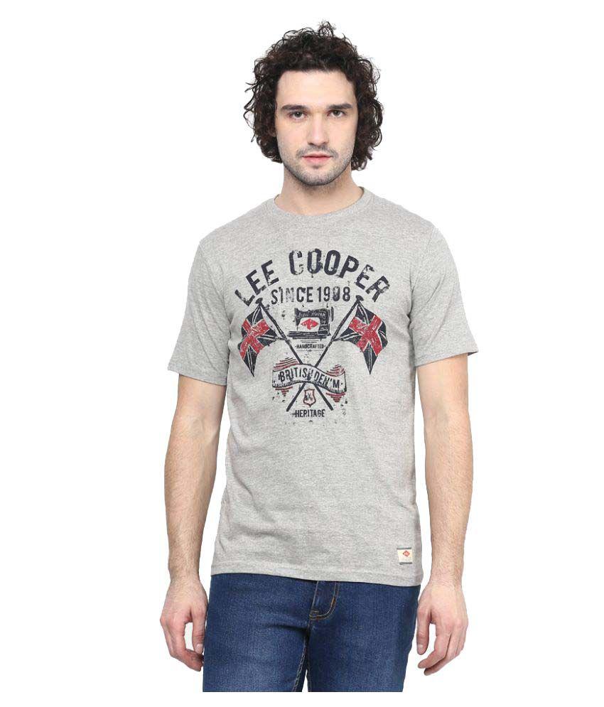 Lee Cooper Grey Round T-Shirt