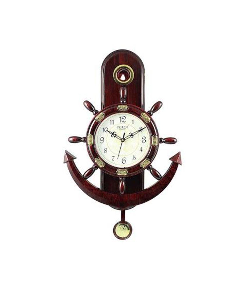Plaza Quartz MotionAnchor And Steering Design Pendulum Wall Clock