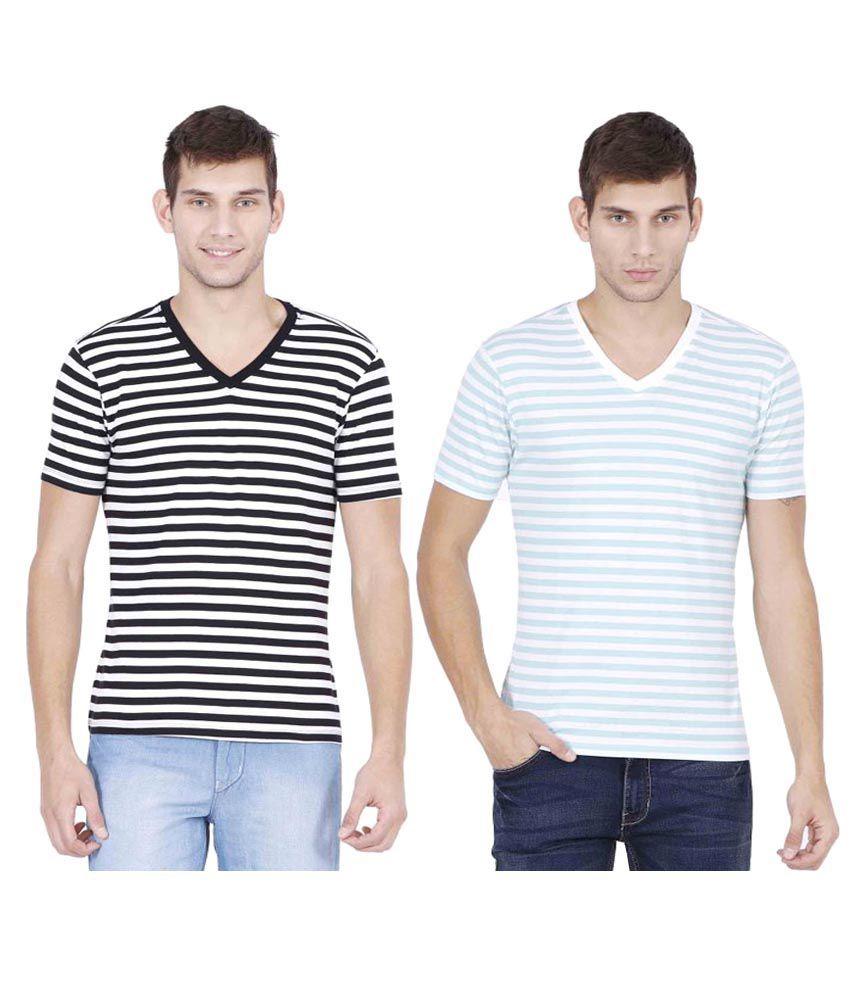 Habitude Multi V-Neck T-Shirt Pack of 2