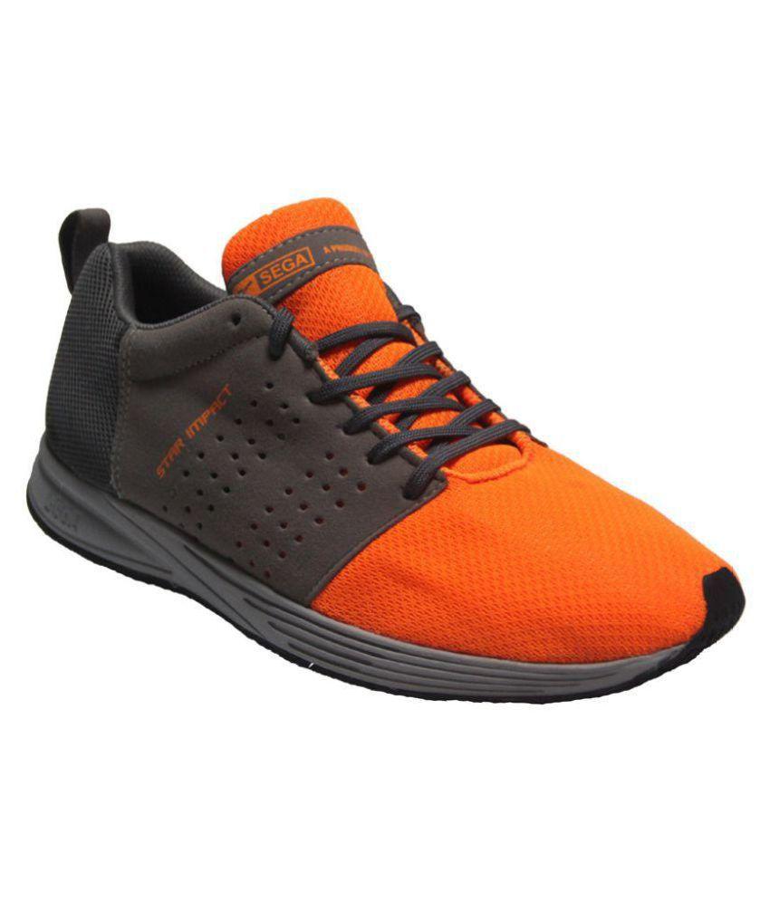 new product 57eee ff7da Sega Orange Running Shoes