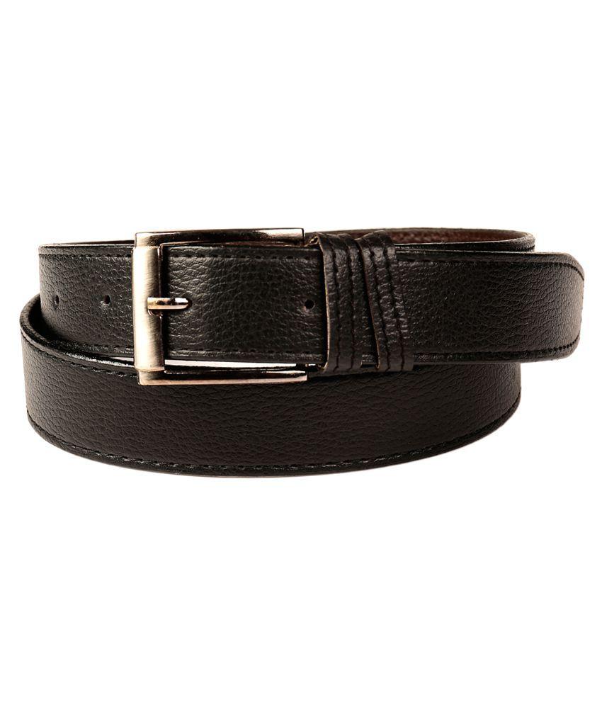 Fedrigo Black Faux Leather Casual Belts