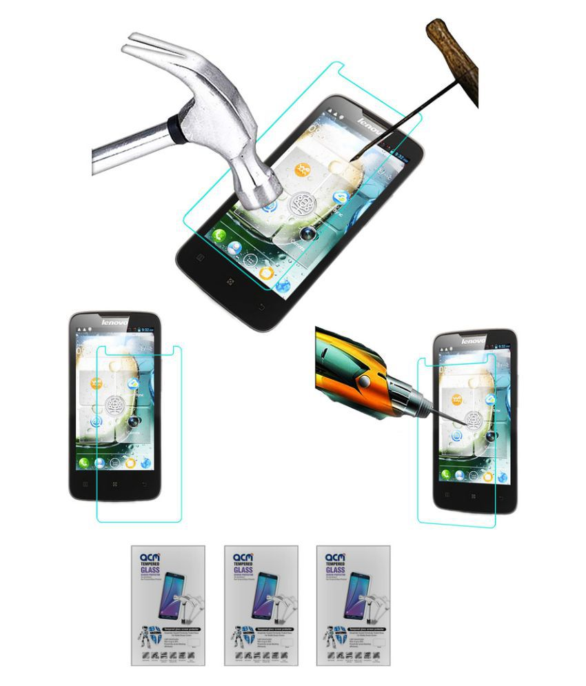 Lenovo A820 Tempered Glass Screen Guard By Acm