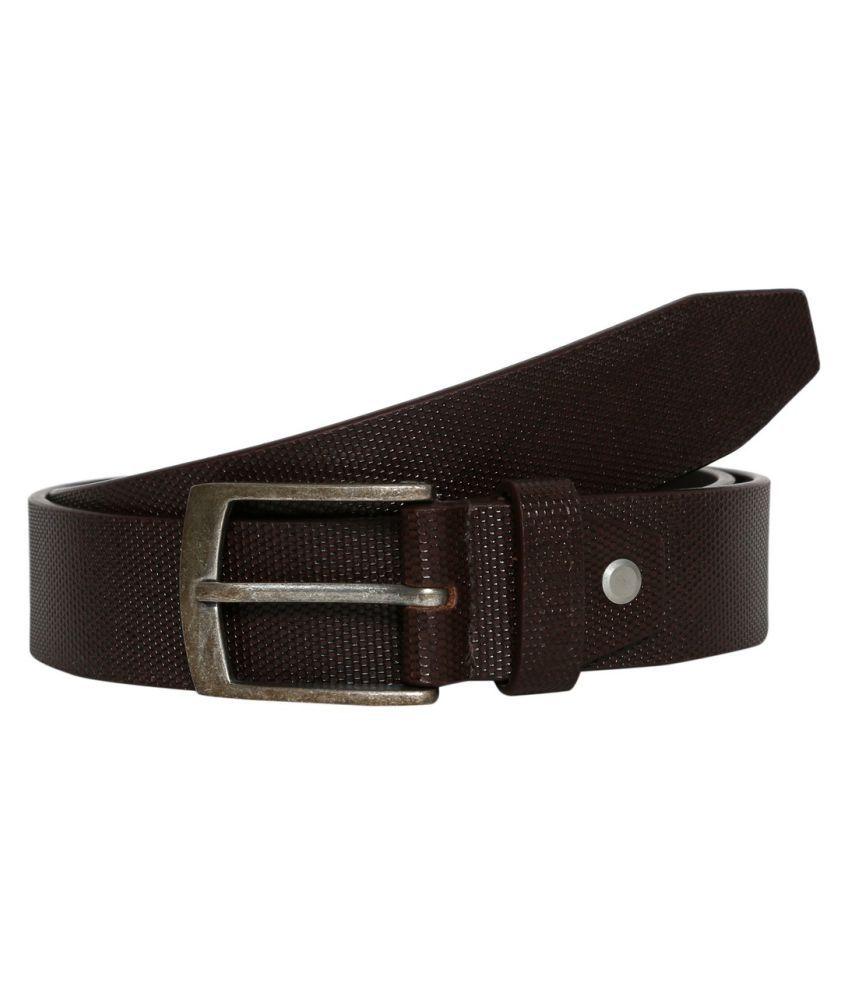 Fedrigo Brown Leather Casual Belts