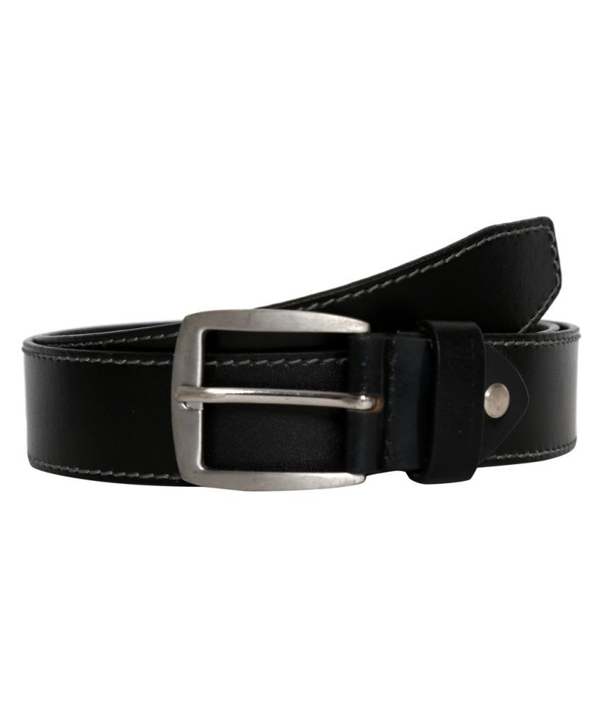 Fedrigo Black Leather Casual Belts