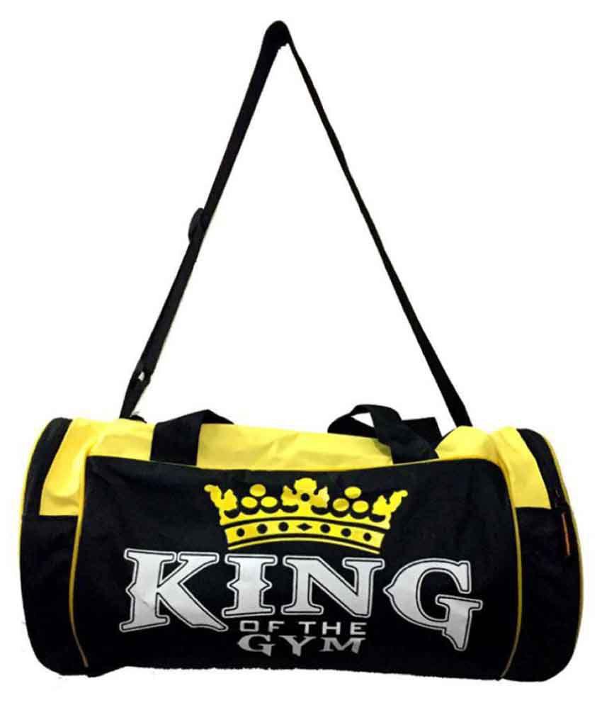 King Fitness Black Medium Polyester Gym Bag