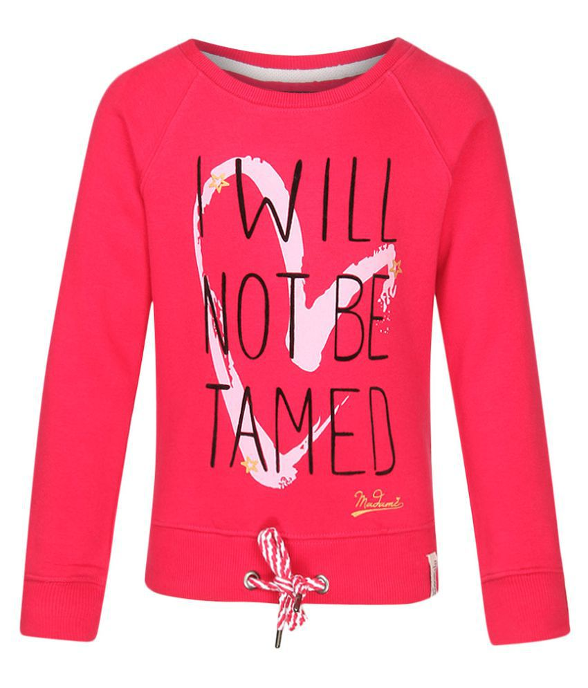 Madame Red Crew Neck Sweatshirt