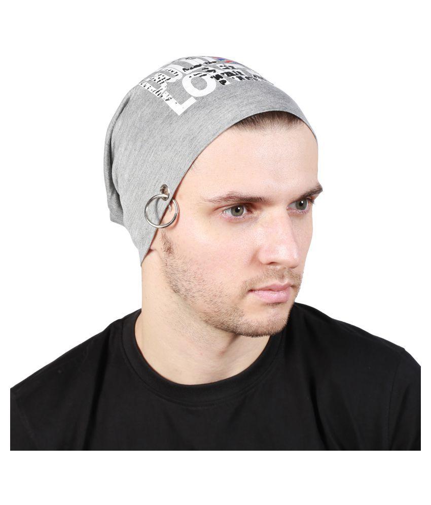 Noise Gray Printed Cotton Caps