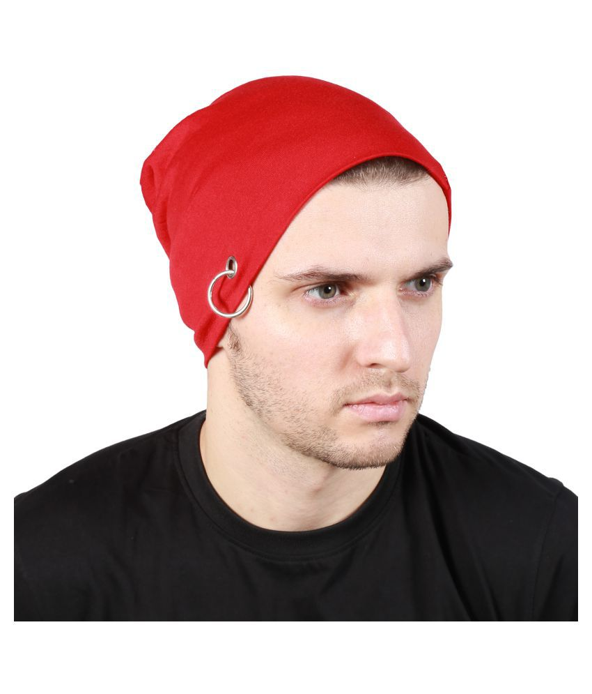 Noise Red Plain Polyester Caps