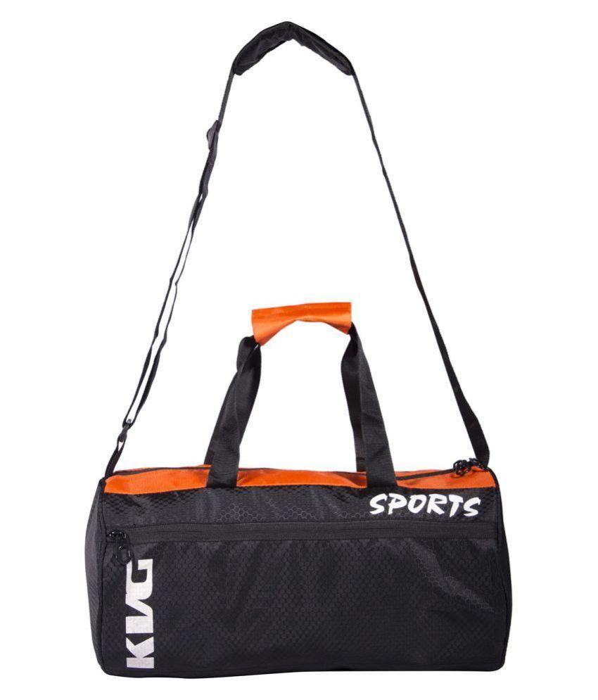 KVG Black Medium Polyester Gym Bag
